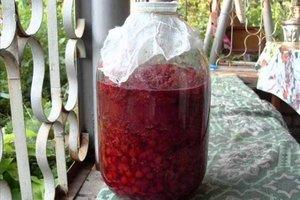 Как готовят малиновое вино