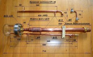 Спиртовая колонна и самогонный аппарат в одном своими руками погрешности термометра самогонного аппарата