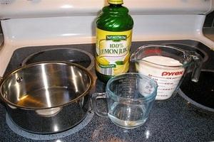 Последовательность процесса очистки самогона лимонной кослотой